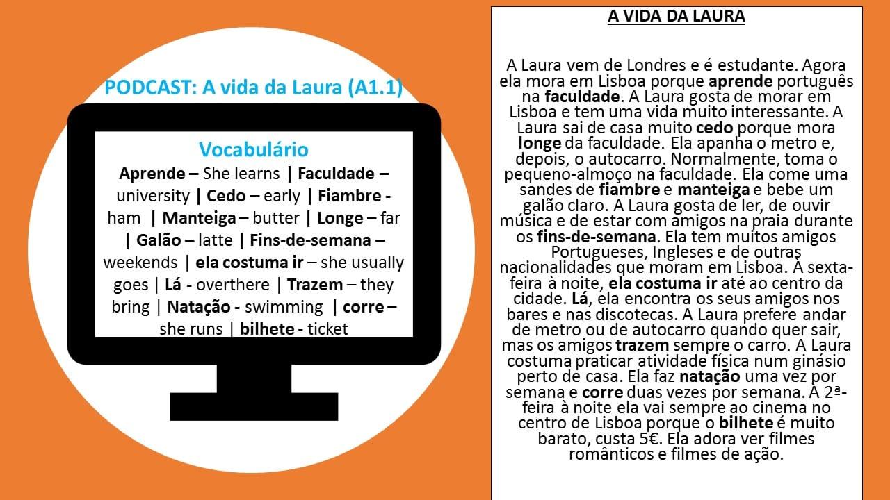 portuguese podcast vida laura
