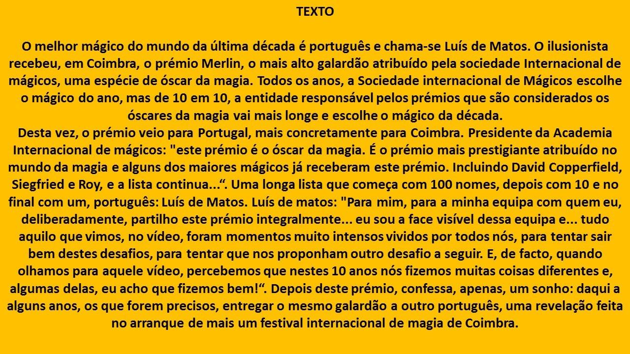 Nível B2 video portuguese