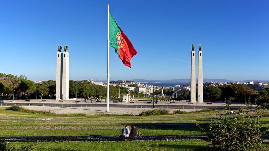 bandeira portuguesa Parque Eduardo VII