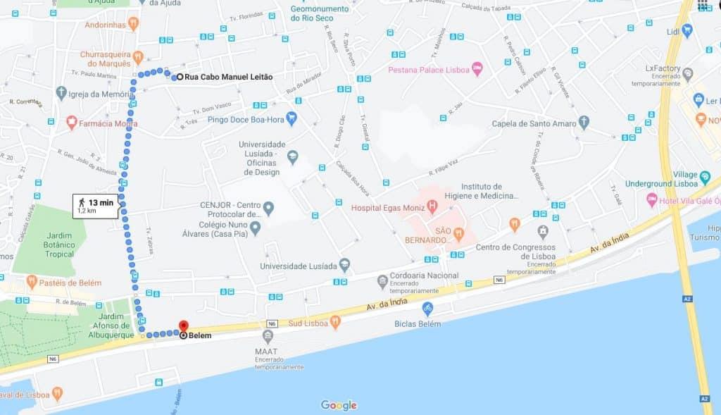 Lisbon Language café map