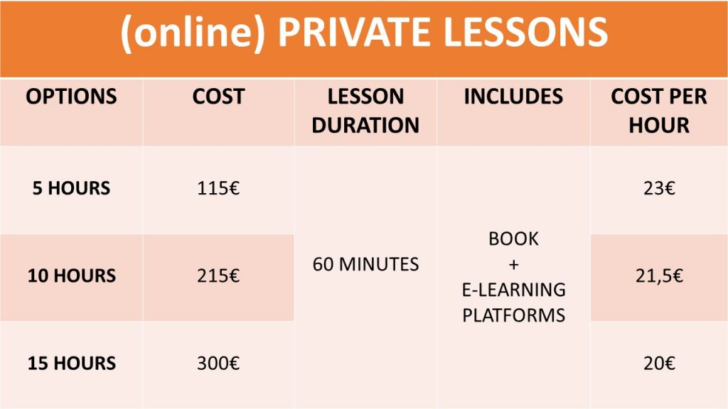 PRIVATE ONLINE LESSONS IN SINTRA