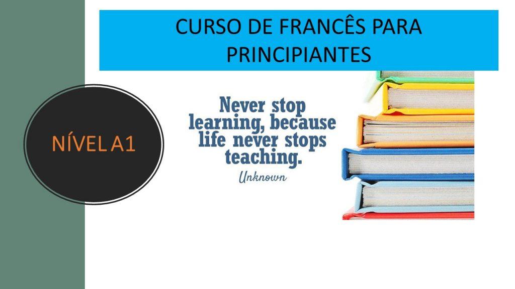 cursos em grupo francês A1
